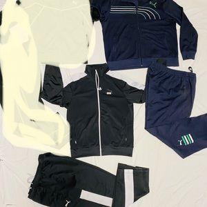 2 pairs track suit/ jogging suit/pants and jacket